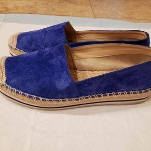 Schutz Womens Lace Espadrilles blue loafers Size 7